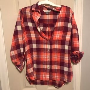 Old navy flannel shirt, size M